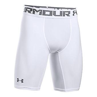 Under Armour Men's HeatGear Armour 2.0 Long, White (100)/Graphite, Size XX-Large