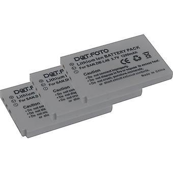 3 x Dot.Foto Sanyo DB-L40, reemplazo de la batería DB-L40AU - 3.7v / 1200mAh
