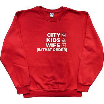 City Kids Vrouw (in die volgorde) rood sweatshirt