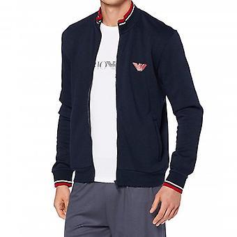 Emporio Armani Underwear Navy Zip Up Sweatshirt 111532 9A571
