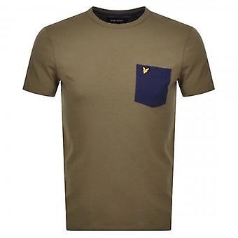 Lyle & Scott Contrast Pocket Crew Neck T-Shirt Lichen Green TS831V