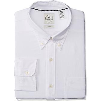Dockers Men's Long Sleeve Button Front Comfort Flex Shirt, Oxford Paper White...