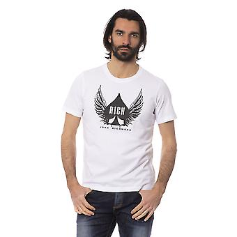 White Rich John Richmond Men's T-shirt
