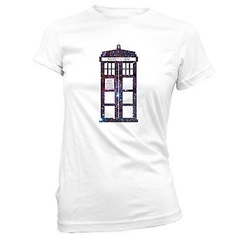 Camisetas femininas Capuz Hoodie- Dr. Quem Tardis Máquina do Tempo