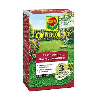 COMPO Floranid® lawn fertilizer plus weed killer, 1.5 kg