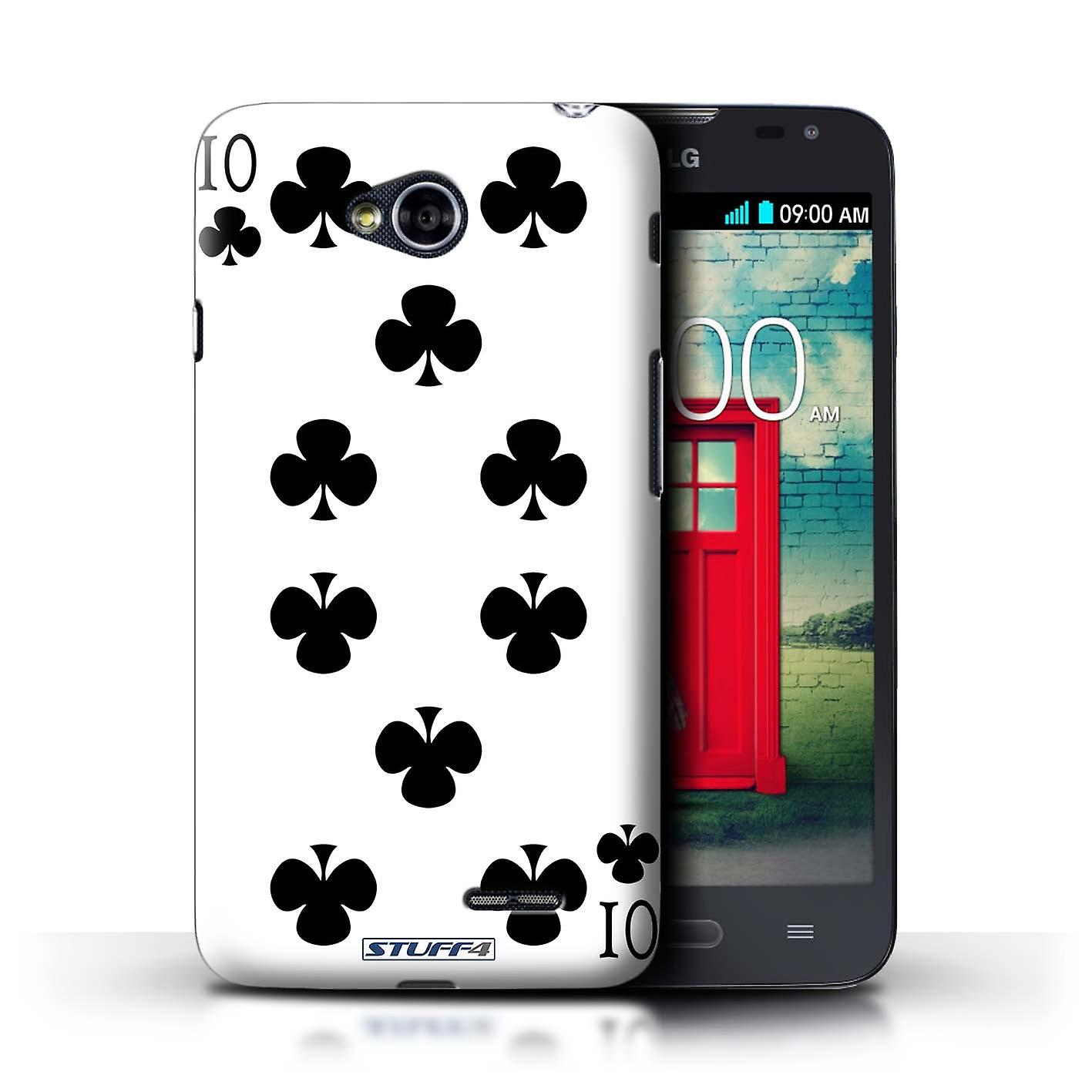 STUFF4 Case/Cover for LG L70/D320/10 of Clubs/Playing Cards
