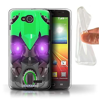 STUFF4 Gel TPU Case/Cover for LG L90/D405/Bumble-Bot Green/Robots