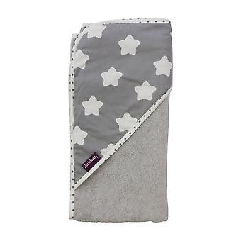 Hooded towel Finja, grey,80x78 cm