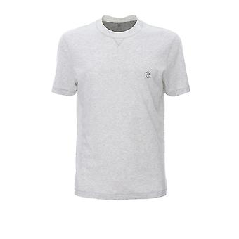 Brunello Cucinelli M0t611328gcl950 Men's White Cotton T-shirt
