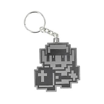 Legend Of Zelda Link Metal Keyring Key Chain 8 Bit Design Retro Gift