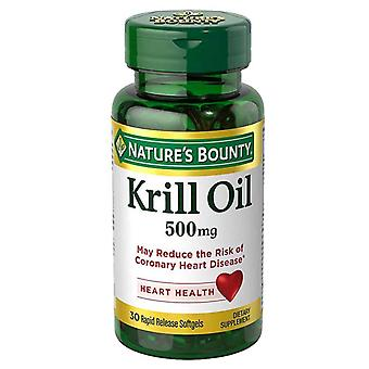 Nature's bounty red krill oil, 500 mg, softgels, 30 ea