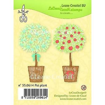 LeCrea klar Stempel - Topf Pflanze