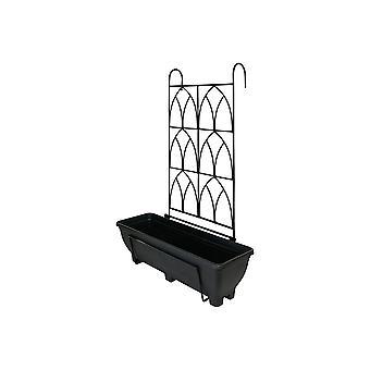 Garden Pride Balcony/fence Holder - Decorative Trellis Back Planter Holder