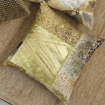 Designers Guild Parterre Geometric Cushion In Turmeric Yellow