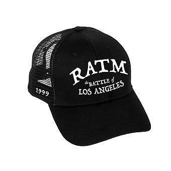 Rage Against The Machine Baseball Cap Battle Logo new Official Black Trucker