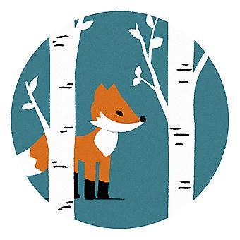 Kids Rug - Fox - Lavable - Cercle 75 cm