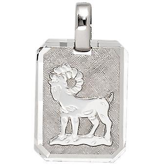 Ladies pendant zodiac aries 925 sterling silver matt zodiac pendant