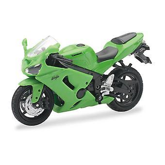 1:18 mierka Die-Cast motocykel-zelená Kawasaki Ninja ZX-6RR