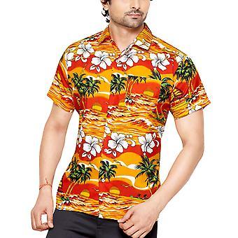 Club cubana men's slim fit classic short sleeve casual shirt cc04