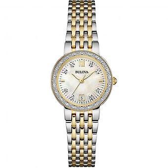 Bulova 98W211 Women's Diamond Gallery Wristwatch