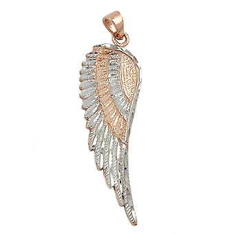 Wing pendants angel wing pendant, Angel Wings, 9 KT pink gold 375