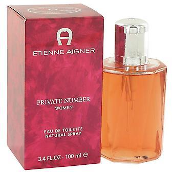 Private Number Eau De Toilette Spray By Etienne Aigner 3.4 oz Eau De Toilette Spray