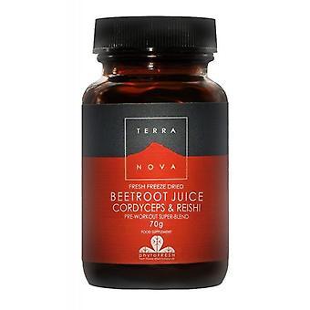 Terranova Beetroot Juice, Cordyceps & Reishi pó 70g (T2244)