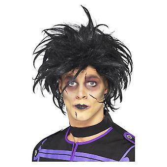 Hombre psico Scissorhands peluca disfraces accesorios