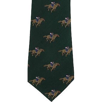 Michelsons di Londra a cavallo da corsa cravatta di seta - verde