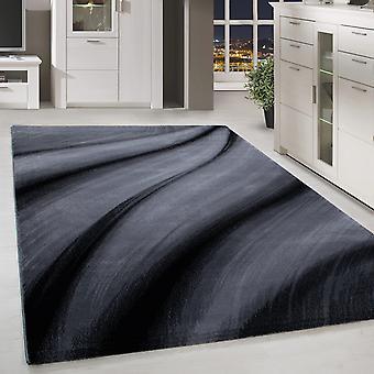 Shortfloral Design Rug Shadow Patroon Woonkamer Tapijt Grijs Zwart Gesmolten