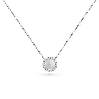 Necklace Luna 18K Gold and Diamonds - White Gold