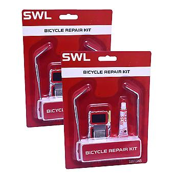 2 x SWL Bicycle Repair Kit Puncture Tyre Fix Bike Cycling
