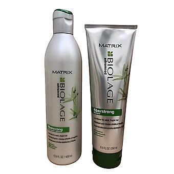 Matrix Biolage Fiberstrong Bamboo Fragile Hair Shampoo 13.5 OZ & Conditioner 8.5 OZ