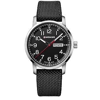 Wenger Attitude Heritage Quartz Black Dial Black Nylon Strap Men's Watch 01.1541.105 RRP £159