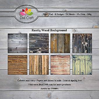 Dixi Craft Rustiq Wood Background 15x15cm Paper Pad