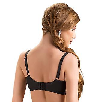 Nessa Women's Clarisse Black Floral Non-Padded Underwired Soft Bra