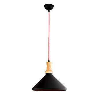 Elegante lámpara de metal negro de 3 colores 35x35x120 cm