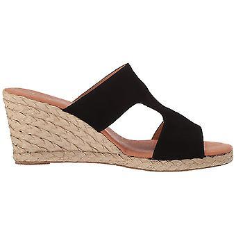 André Assous Women's Shoes ALANA-AA Suede Peep Toe Casual Espadrille Sandals