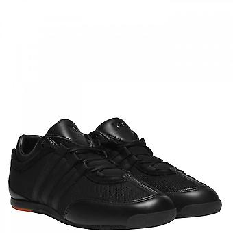 Y-3 Black Orange Mesh Trainers
