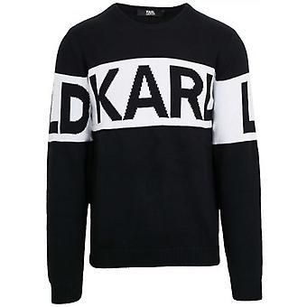 Lagerfeld Noir Tricot Crew Neck Sweatshirt
