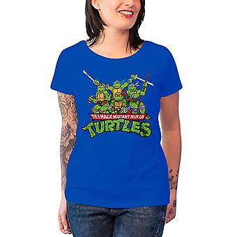 Teenage Mutant Ninja Turtles T Shirt Distressed Group Womens Skinny Fit