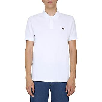 Ps Door Paul Smith M2r183kazebra01 Men's White Cotton Polo Shirt