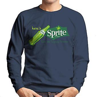 Sprite Taste Its Tingling Tartness 1960s Logo Men es Sweatshirt