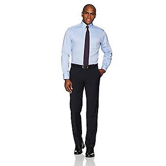 "BUTTONED DOWN Men's Classic Fit Button-Collar Non-Iron Dress Shirt (Pocket), Blue, 18.5"" Neck 34"" Sleeve (Big and Tall)"