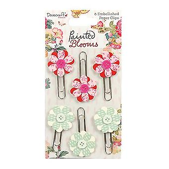 Dovecraft Dovecraft Painted Blooms Decorative Paper Clips