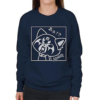 Aggretsuko Retsuko Rocking Rage Zwart-Wit Vrouwen's Sweatshirt