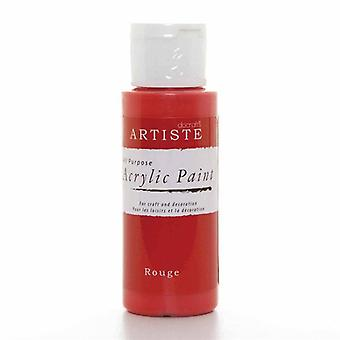 Docrafts Akryl Paint (2oz) - Rouge (DOA 763210)