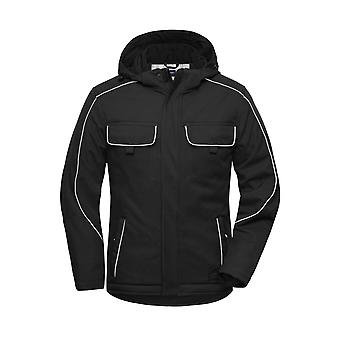 James och Nicholson Vuxna Unisex Workwear Softshell Hooded Jacket