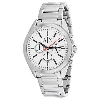 180, Armani Exchange Hombres 's AX2624 Reloj de plata de cuarzo