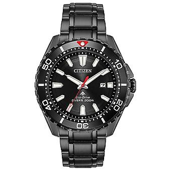 Citizen Watches Bn0195-54e Mens Eco-drive Promaster Dive Black Stainless Steel Watch